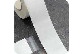 ADHESIVE TRANSPARENT LABELS 30x30mm